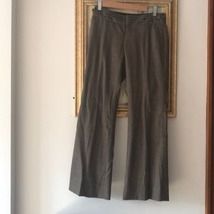 Brown straight leg trouser pants